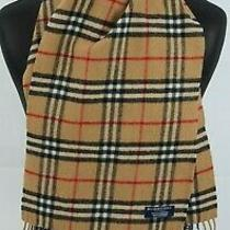 Burberry Scarf 100% Lambswool Short Made in England Beige  Photo