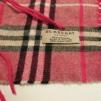 Burberry Scarf Fringe Pink / Red 100% Cashmere & 100% Authentic (Guaranteed) Photo