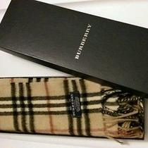 Burberry Scarf Muffler With a Box/camel/never Worn Photo