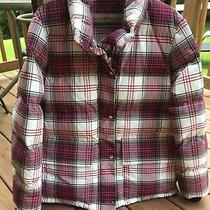 Burberry Selsey Check Down Fill Puffer Jacket Women's Size L New Item Photo