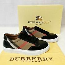 Burberry Shoes Check Pattern Low-Top Sneakers Black Size 37 Photo