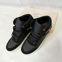 Burberry Shoes Reeth Leather High-Top Sneakers Black Size 38 Photo