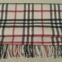 Burberry Signature Nova Check Scarf 100% Cashmere Authentic Original Nwot Photo