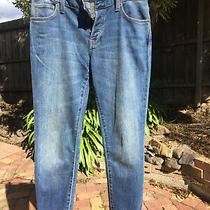 Burberry Slim Leg Boyfriend Jeans Size 25 Mid Blue Photo