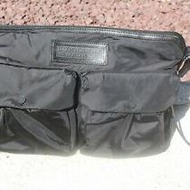Burberry Sport Black Nylon Bag Purse Loads of Pockets Adjustable Leather Strap Photo