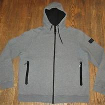 Burberry Sport Hoodie Sweatshirt Jumper Jacket Gray Zip Front Men's Xl Photo
