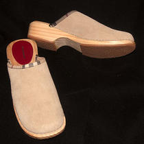 Burberry Suede Clogs Photo
