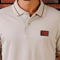 Burberry T Shirt Polo Men Size 2xl White Color New Short Sleeves Red Details Photo