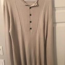 Burberry Tan Button Sweater Size Xl Photo
