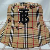 Burberry Tb Bucket Hat Brown Men Women Packable Cap Medium Photo