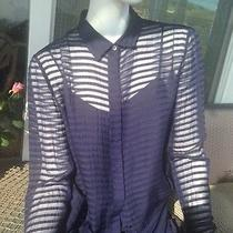 Burberry Three Piece Silk Outfit  Dark Blue Made in Italy Photo