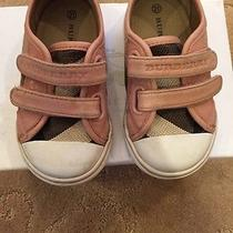 Burberry Toddler Low Top Check Sneaker in Pink Photo