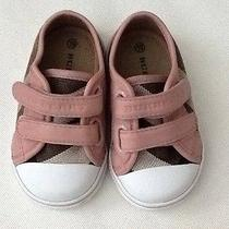 Burberry Toddler's Pink Nova Check Low-Top Sneakers Size 19 Photo