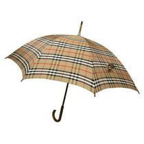 Burberry Umbrella Check Beige Auth Used T19041 Photo