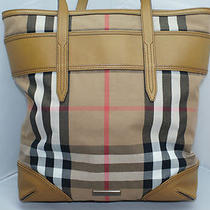 Burberry Vintage House Check Webbing Medium Marlow Tote Handbag Bag Hobo Nwt Photo