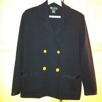 Burberry Vintage Sweater/jacket With Brass Buttons Made in Italy S Photo