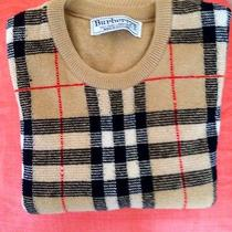 Burberry Vintage Sweater Nova Check Gently Worn Made in Scotland Photo