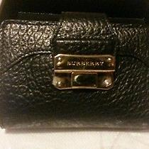 Burberry Wallet Balmore Lock Front Black Leather Photo