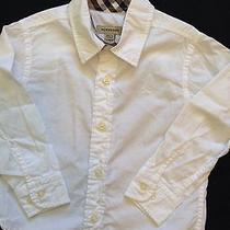 Burberry White Dress Shirt Size 2 Photo
