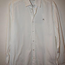 Burberry White Dress Shirt Size M  Photo