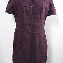 Burberry Wine Pleated Silk Dress Us Size 12 Worn Once Photo