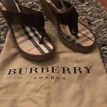 Burberry Womans Wedge Sole New Sz 38 Photo