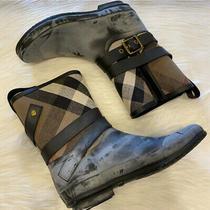 Burberry Women's Holloway Rain Boots Size 10 Good Condition Photo