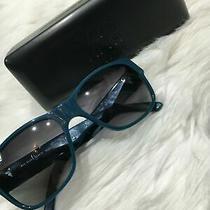 Burberry Women Sunglasses B4104 Gren Blue Studs on Frames B05 Photo