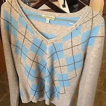Burberry Womens Cashmere Large v Neck Sweater Photo