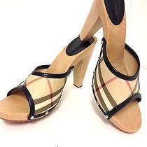 Burberry Wood Heel Slides 39 Photo