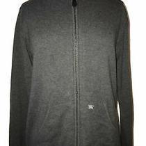 Burberry Zip Hoody Hoodie Jacket Coat Cardigan Dark Grey Cashmere Blend Photo