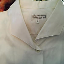 Burberrys Crisp White Woman's Dress Shirt (Like New) Photo