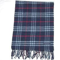 Burberrys London 100% Cashmere Scarf Made in England 63''x12.5'' Photo