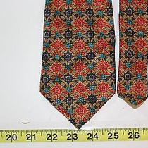 Burberrys London Colorful Pattern Artwork Made England Neck Tie  Photo