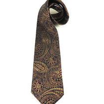 Burberrys London Silk Mens Formal Tie Neck  Authentic Designer High End Paisley Photo