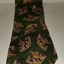 Burberrys of London Bird Design Mens Silk Necktie Photo