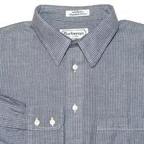 Burberrys of London Vintage Pre-1998 Blue White Mens Shirt 16 1/2-34 Imported Photo