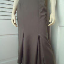 Burberrys Skirt 40 Long Fluted Olive Green Inverted Pleats Lined Made in Italy Photo