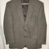 Burberrys Tm Red Black Tan Houndstooth Plaid Tweed Wool Sports Blazer Jacket 46 Photo