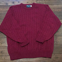 Burberrys Wool Cable Knit Jumper Sweater England Men's Size Xl  Photo
