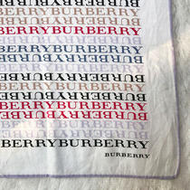 Burberryscarf White Cotton Monogram Handkerchief Neck Scarf Pocket Square 20