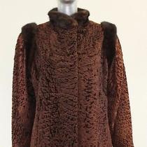 Burgundy Lamb Jacket With Mahogany Mink Trim Size M-S Photo