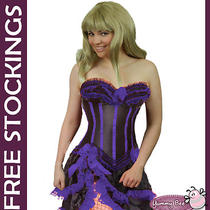 Burlesque Saloon Girl Corset Skirt Fancy Dress Size 6 8 10 12 14 16 18 20 22 24 Photo