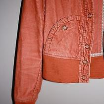 Burnt Orange Corduroy Light Jacket Size Small Photo