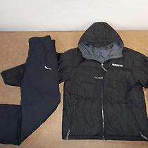Burton 2 Pc Set Outfit Jacket Pants Ski Snow Suit Hood Boy's Xl 18 Free Ship Photo