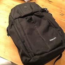Burton Backpack Black Snowboarding - Laptop Sleeve Bottle Holder Nwot Photo