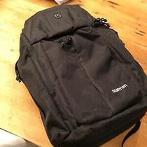 Burton Backpack Black Snowboarding - Laptop Sleeve Bottle Holder Nwot Photo