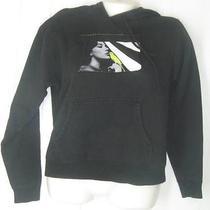 Burton Black Hoodie Hooded Sweatshirt Canary Bird Womens Size S Photo
