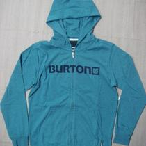 Burton Boys Maxwell Jersey Full-Zip Hoodie Sz m(10/12) - Heather Storm Blue Photo