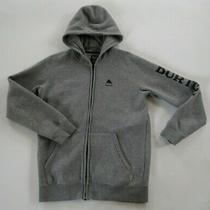 Burton Boys or Girls Polyester Blend Ls Full Zip Gray Hoodie Sweatshirt Youth Xl Photo